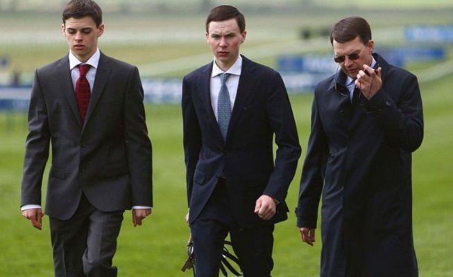 Donnacha (left), Joseph and Aidan O'Brien.