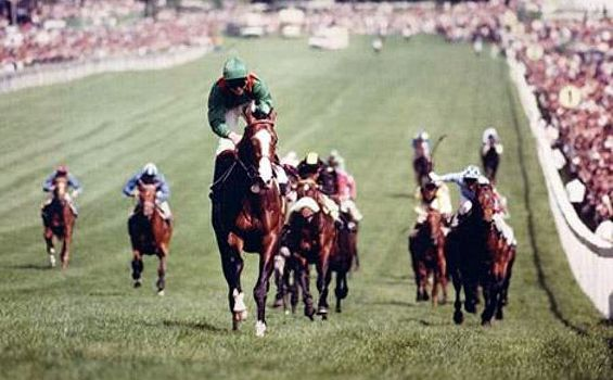 Shergar wins the Epsom Derby.