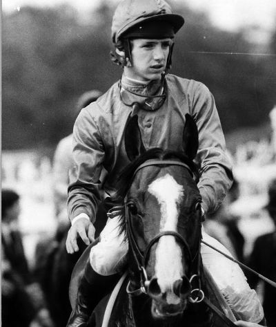 "The great Shergar with his jockey, the ''choir boy"", Walter Swinburn."