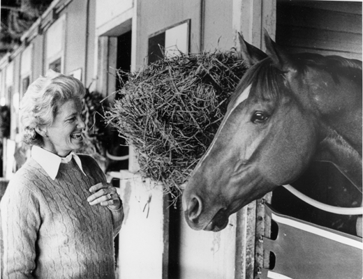 Secretariat with Penny Chenery (Saratoga.com).