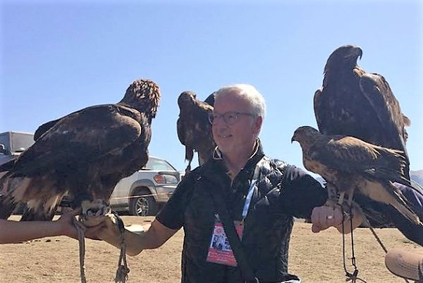 The eagles have landed - if you have seen the film Eagle Huntress you'll know all about these fellows. Fabulous to see Golden Eagles....heavy Golden Eagles.....