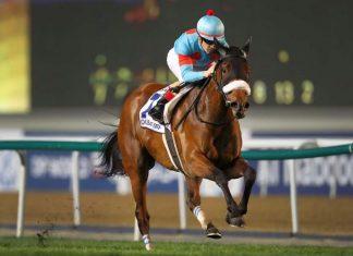 Almond Eye wins Dubai Turf.