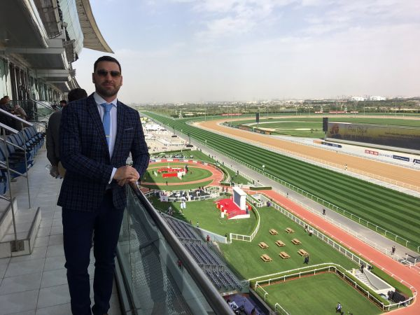 Justin Vermaak, Meydan grandstand.