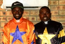 Joe Gwingwizha (left) and fellow rider, Phelisile Mongqawa.