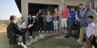 Gabi Soma speaks to Syndicate members.