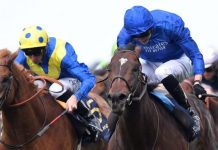 Blue Point (right) holds on from Dream Of Dreams.