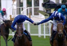 Blue Point (left) wins the 2019 King's Stand Stakes.