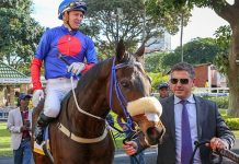Liege, with Sean Tarry and jockey Raymond Danielson.