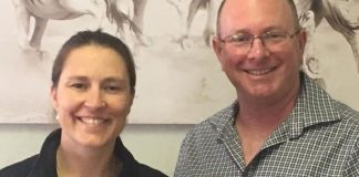 Dr Camilla Weyer and Adrian Todd.
