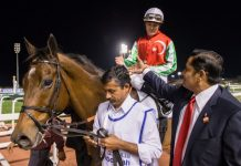 North America (Richard Mullen), with trainer Satish Seemar.