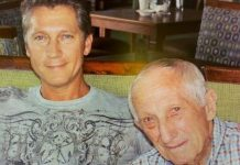 Dudley (left) and the late Brian Cherry.