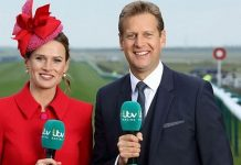 Francesca Cumani and Ed Chamberlin of ITV.