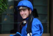 James Doyle, winning rider.