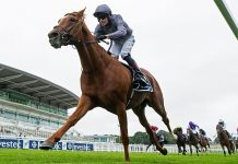 Serpentine wins the 2020 Investec Derby.