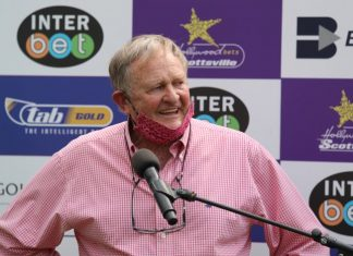 Doug Campbell, three winers at Scottsville. (Candiese Lenferna).